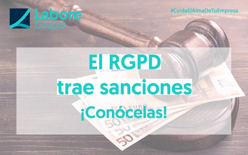 Sanciones ante el incumplimiento del RGPD